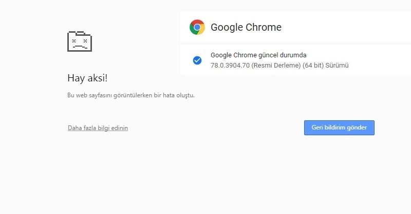 "Google Chrome  Symantec Endpoint Protection Uyumsuzluğu ""Hay Aksi "" Hatası"